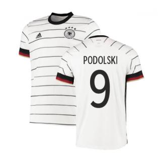 2020-2021 Germany Authentic Home Adidas Football Shirt (PODOLSKI 9)
