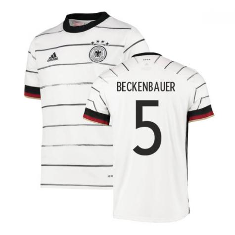 2020-2021 Germany Home Adidas Football Shirt (Kids) (BECKENBAUER 5)