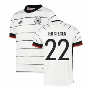 2020-2021 Germany Home Adidas Football Shirt (Kids) (TER STEGEN 22)