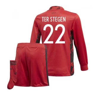 2020-2021 Germany Home Adidas Goalkeeper Mini Kit (Ter Stegen 22)