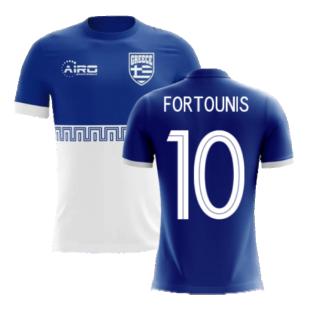 2020-2021 Greece Away Concept Football Shirt (Fortounis 10) - Kids