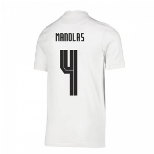 2020-2021 Greece Home Nike Football Shirt (Kids) (MANOLAS 4)