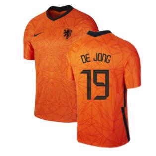 2020-2021 Holland Home Nike Football Shirt (DE JONG 19)