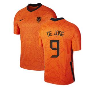 2020-2021 Holland Home Nike Football Shirt (DE JONG 9)