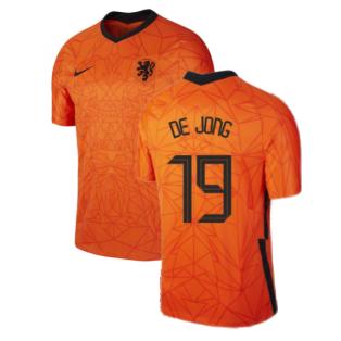 2020-2021 Holland Home Nike Football Shirt (Kids) (DE JONG 19)