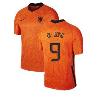 2020-2021 Holland Home Nike Football Shirt (Kids) (DE JONG 9)