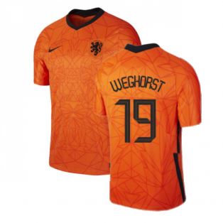 2020-2021 Holland Home Nike Football Shirt (WEGHORST 19)
