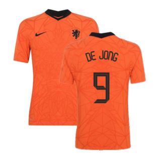 2020-2021 Holland Home Nike Vapor Match Shirt (DE JONG 9)