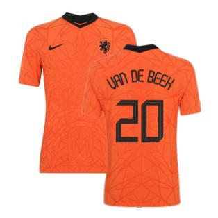 2020-2021 Holland Home Nike Vapor Match Shirt (VAN DE BEEK 20)