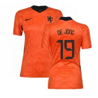 2020-2021 Holland Home Nike Womens Shirt (DE JONG 19)