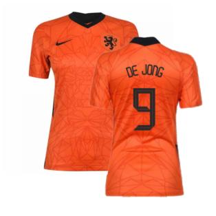 2020-2021 Holland Home Nike Womens Shirt (DE JONG 9)