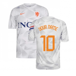 2020-2021 Holland Nike Pre-Match Training Shirt (White) (Your Name)