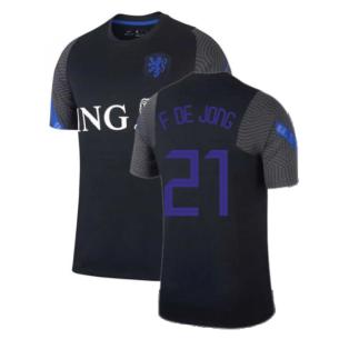 2020-2021 Holland Nike Training Shirt (Black) - Kids (F DE JONG 21)