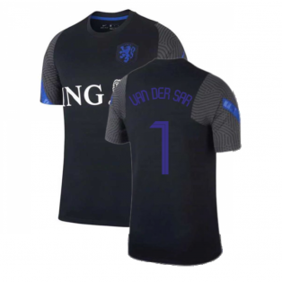 2020-2021 Holland Nike Training Shirt (Black) - Kids (VAN DER SAR 1)