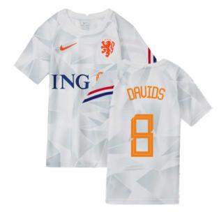 2020-2021 Holland Pre-Match Training Shirt (White) - Kids (DAVIDS 8)