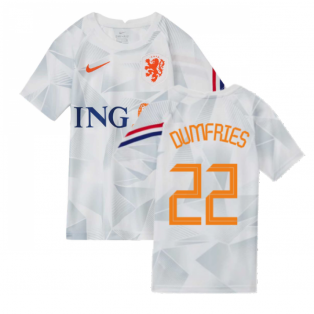 2020-2021 Holland Pre-Match Training Shirt (White) - Kids (DUMFRIES 22)
