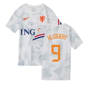 2020-2021 Holland Pre-Match Training Shirt (White) - Kids (KLUIVERT 9)