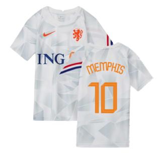 2020-2021 Holland Pre-Match Training Shirt (White) - Kids (MEMPHIS 10)