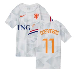 2020-2021 Holland Pre-Match Training Shirt (White) - Kids (OVERMARS 11)
