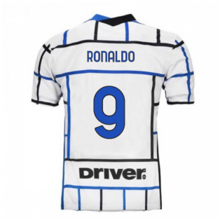 2020-2021 Inter Milan Away Nike Football Shirt (Kids) (RONALDO 9)