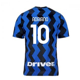 2020-2021 Inter Milan Home Nike Football Shirt (ADRIANO 10)