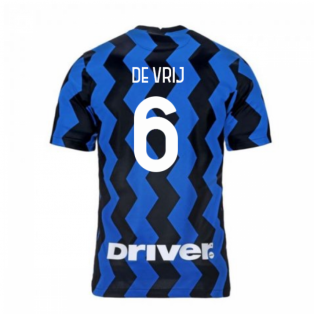 2020-2021 Inter Milan Home Nike Football Shirt (DE VRIJ 6)