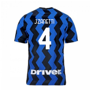 2020-2021 Inter Milan Home Nike Football Shirt (J.ZANETTI 4)