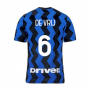 2020-2021 Inter Milan Home Nike Football Shirt (Kids) (DE VRIJ 6)
