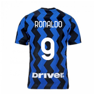 2020-2021 Inter Milan Home Nike Football Shirt (Kids) (RONALDO 9)