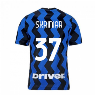 2020-2021 Inter Milan Home Nike Football Shirt (Kids) (SKRINIAR 37)
