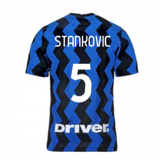 2020-2021 Inter Milan Home Nike Football Shirt (Kids) (STANKOVIC 5)