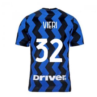 2020-2021 Inter Milan Home Nike Football Shirt (Kids) (VIERI 32)
