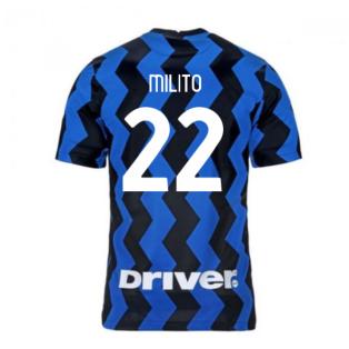 2020-2021 Inter Milan Home Nike Football Shirt (MILITO 22)