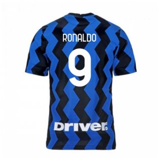 2020-2021 Inter Milan Home Nike Football Shirt (RONALDO 9)