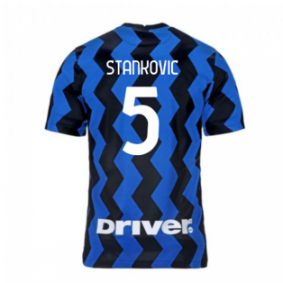 2020-2021 Inter Milan Home Nike Football Shirt (STANKOVIC 5)