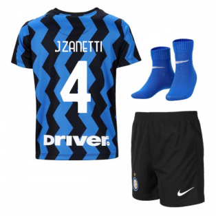 2020-2021 Inter Milan Home Nike Infants Kit (J.ZANETTI 4)