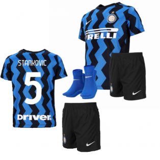2020-2021 Inter Milan Home Nike Infants Kit (STANKOVIC 5)