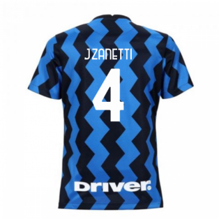 2020-2021 Inter Milan Home Nike Womens Football Shirt (J.ZANETTI 4)