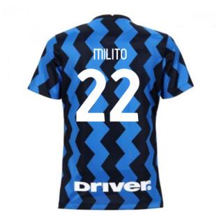 2020-2021 Inter Milan Home Nike Womens Football Shirt (MILITO 22)