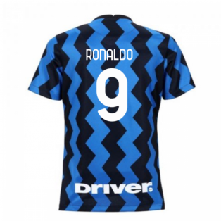 2020-2021 Inter Milan Home Nike Womens Football Shirt (RONALDO 9)