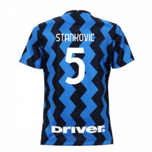 2020-2021 Inter Milan Home Nike Womens Football Shirt (STANKOVIC 5)