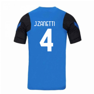 2020-2021 Inter Milan Nike Training Shirt (Blue) (J.ZANETTI 4)