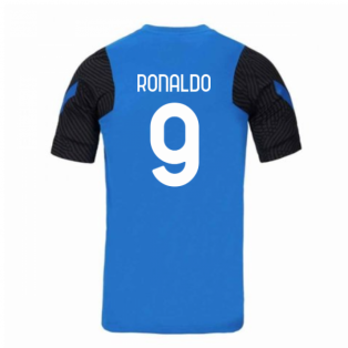 2020-2021 Inter Milan Nike Training Shirt (Blue) - Kids (RONALDO 9)