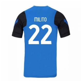 2020-2021 Inter Milan Nike Training Shirt (Blue) (MILITO 22)
