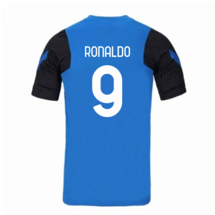 2020-2021 Inter Milan Nike Training Shirt (Blue) (RONALDO 9)