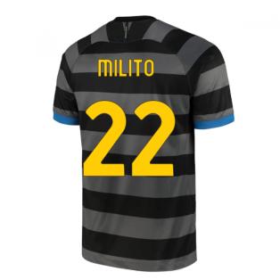2020-2021 Inter Milan Third Shirt (Kids) (MILITO 22)