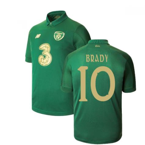 2020-2021 Ireland Home New Balance Football Shirt (Kids) (BRADY 10)