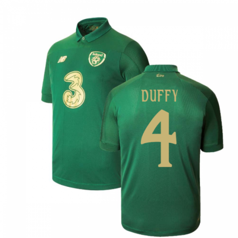 2020-2021 Ireland Home New Balance Football Shirt (Kids) (DUFFY 4)