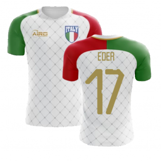 2020-2021 Italy Away Concept Football Shirt (Eder 17) - Kids