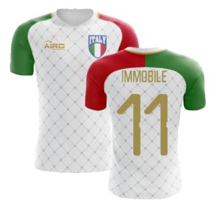 2020-2021 Italy Away Concept Football Shirt (Immobile 11) - Kids
